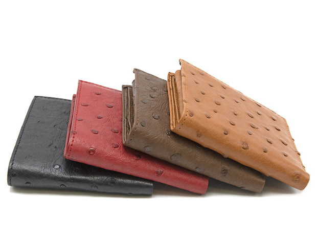 Ostrich Leather Bill & Coin Wallet - Mens Wallets - Ostrich Leather - Ostrich2Love