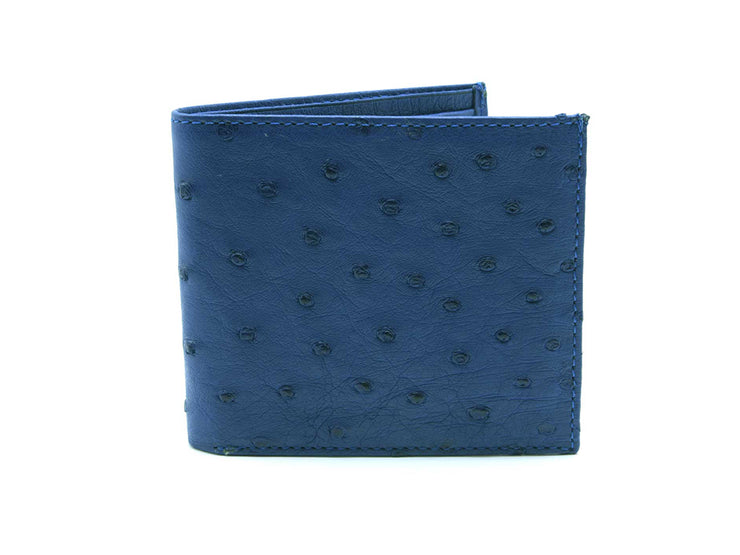 Ostrich Leather Billfold Wallet