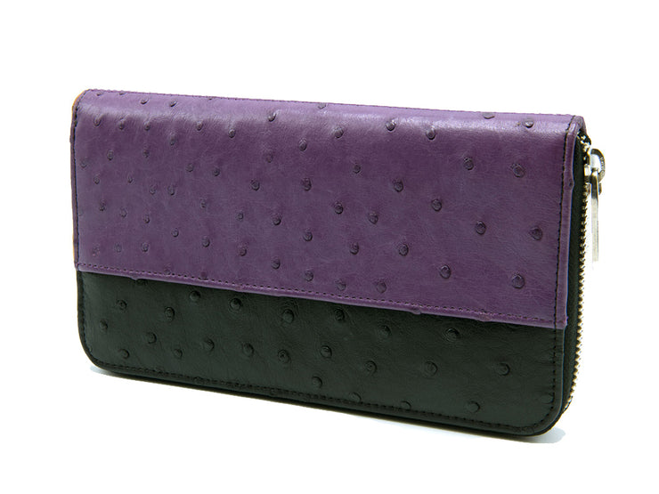 Cango Two Tone Ostrich Leather Wallet - Ladies Wallets - Ostrich Leather - Ostrich2Love