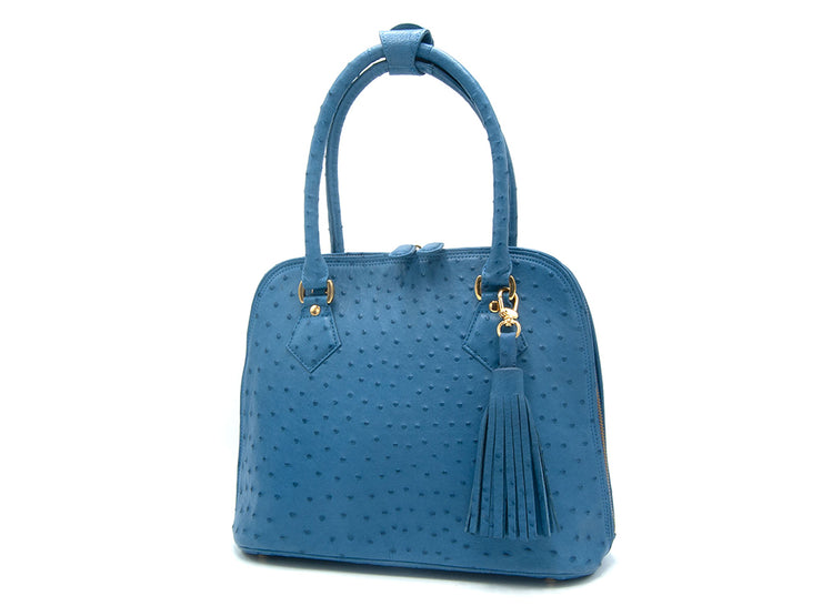Deluxe Ostrich Leather Hepburn Handbag - Hepburn Handbags - Ostrich Leather - Ostrich2Love