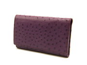 Large Ostrich Leather Classic Wallet - Ladies Wallets - Ostrich Leather - Ostrich2Love