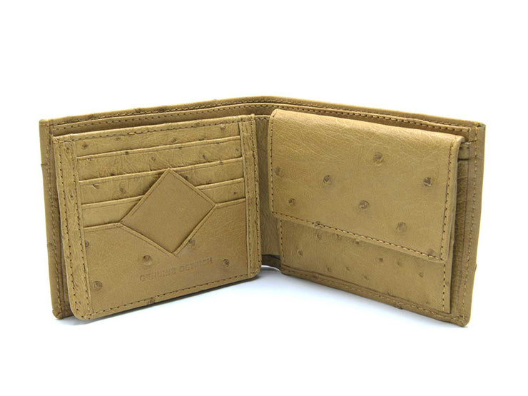 Ostrich Leather Diamond Wallet