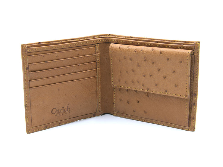 Ostrich Leather Bill & Coin Wallet