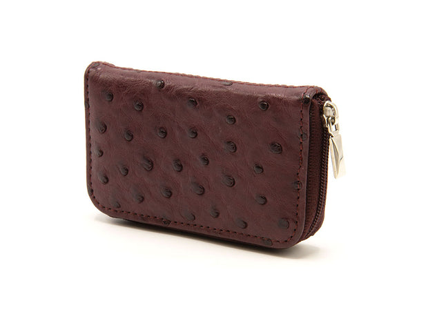 Ostrich Leather Zip Coin Purse - Purses - Ostrich 2 Love - Ostrich2Love