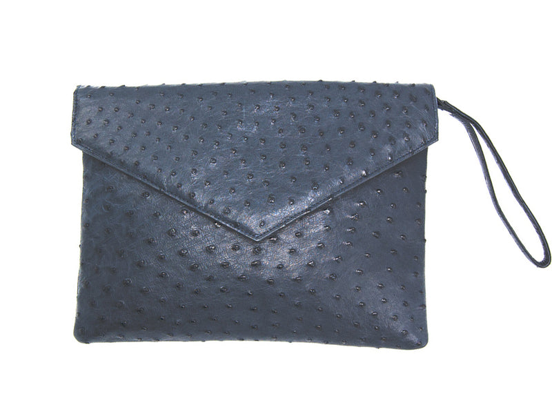 Envelope Clutch Bag - Clutch Bags - Ostrich Leather - Ostrich2Love