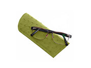 Ostrich Leather Glasses Case - Travel - Ostrich Leather - Ostrich2Love