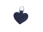 Ostrich Leather Heart Charm - Feather Keyrings - Ostrich Leather - Ostrich2Love