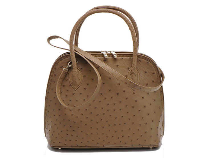 Ostrich Leather Hepburn Handbag - Hepburn Handbags - Ostrich Leather - Ostrich2Love