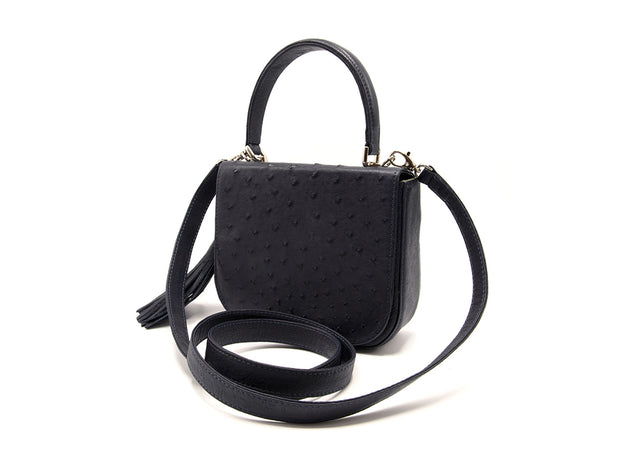 Ostrich Leather Cross Body Bag
