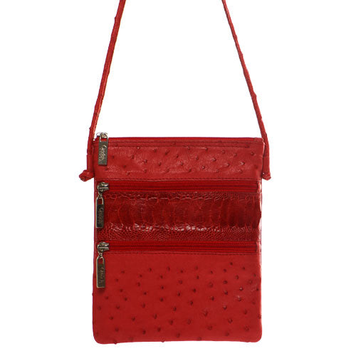 Ostrich Leather Cross Body Bag - Clutch Bags - Ostrich Leather - Ostrich2Love