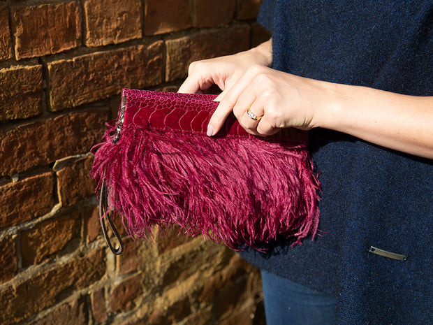 Ostrich Feather Snap Clutch Bag - Clutch Bags - Ostrich Feathers - Ostrich2Love