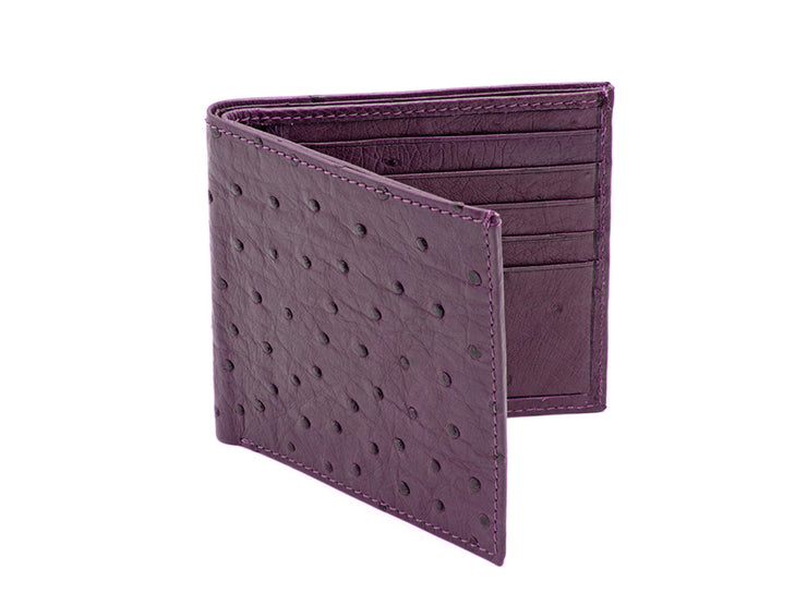 Ostrich Leather Billfold Wallet - Mens Wallets - Ostrich Leather - Ostrich2Love