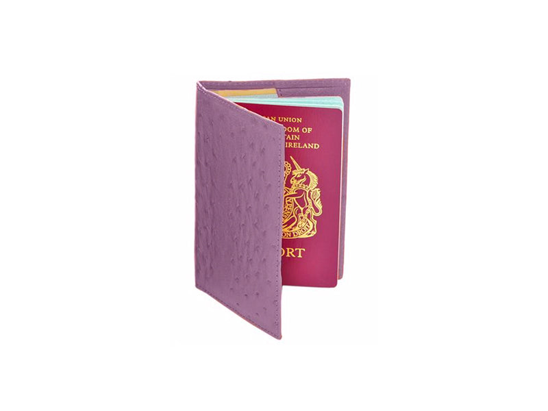 Passport Holder - Travel - Ostrich Leather - Ostrich2Love