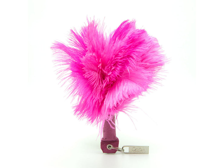 Feather Keyring - Ostrich Feather Keyring - Ostrich Feathers