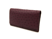 Small Ostrich Leather Classic Wallet - Ladies Wallets - Ostrich Leather - Ostrich2Love