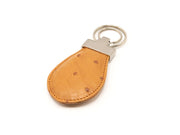 Ostrich Leather Teardrop Keyring