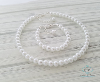 Pearl Necklace & Bracelet