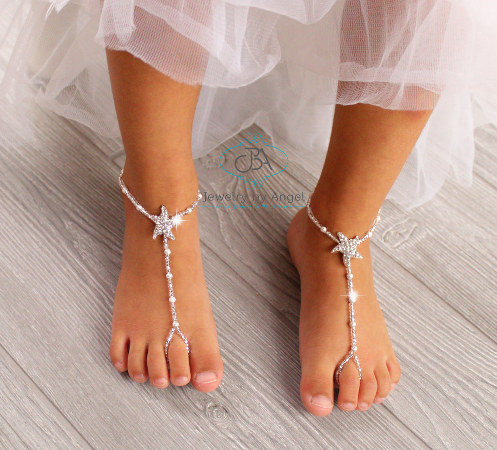 Starfish Barefoot Sandal Bridal Foot Jewelry Beach Wedding Sandals
