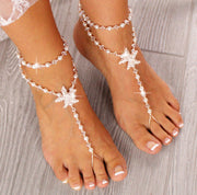 Gold Starfish Barefoot Sandals Rose Gold Foot Jewelry Beach Wedding Sandals Gold Barefoot Sandals