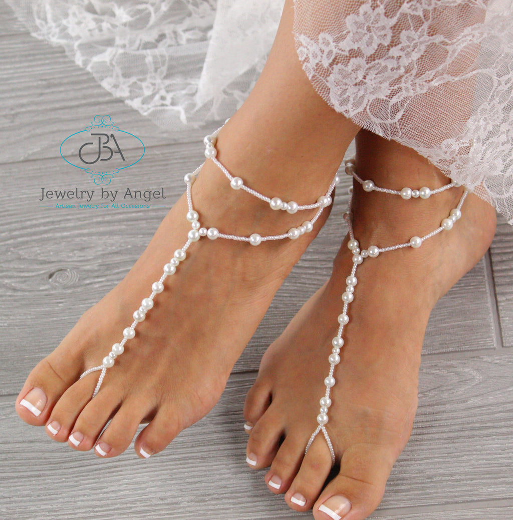 pearl barefoot sandals wedding barefoot sandals