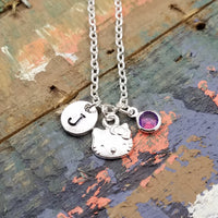 Hello Kitty Necklace, Hello Kitty Jewelry, Personalized Necklace