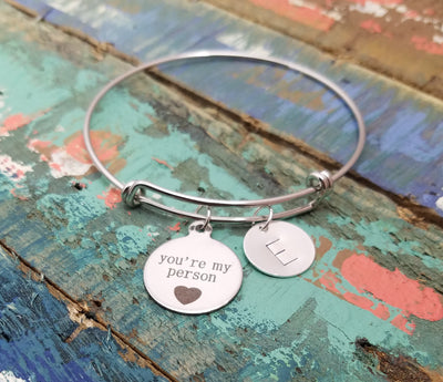 You're My Person Bracelet Bangle, Friendship Bracelet, Couple's Bracelet, Best Friend Gift, You're My Person Gift, Greys Anatomy Inspired, Bestie Gift, BFF Gift