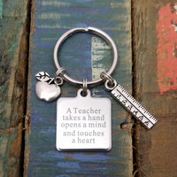 Teacher Key Chain, Teacher Appreciation Gift, Teacher Key Ring, Gift for Teacher