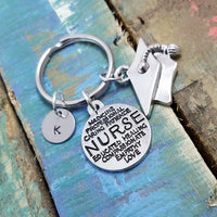 Nurse Key Chain, Nursing Student Keychain, RN Keyring, Graduation Key Chain, Medical Student Gift,