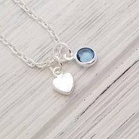 BFF Gift, Tiny Heart Necklace, Minimalist Heart Necklace