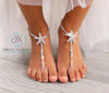 starfish foot jewelry, wedding barefoot sandals, beaded foot jewelry