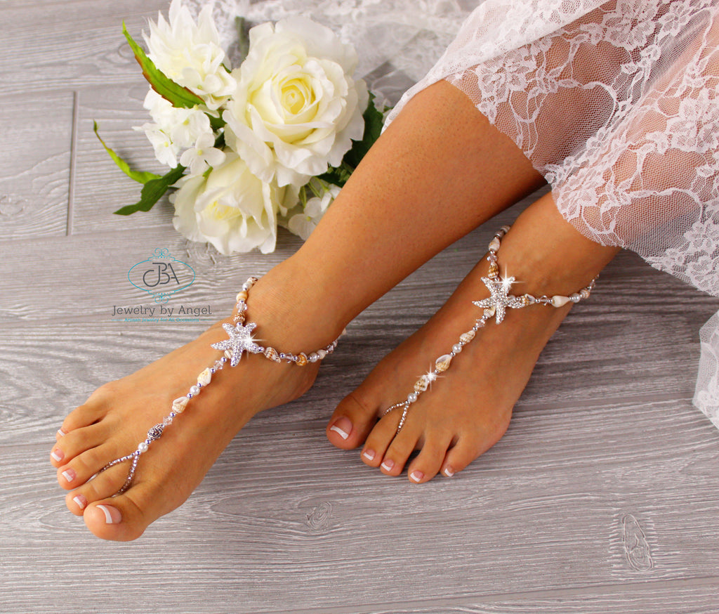 Wedding-Barefoot-Sandals-Seashell-Barefoot-Sandals-Beach-Wedding-Foot-Jewelry