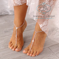 Wedding Barefoot Sandals, Beaded Barefoot Sandals, Bridal Foot Jewelry