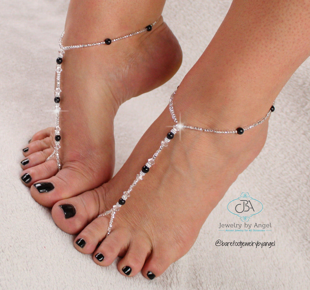 Custom Color Barefoot Sandals Wedding Foot Jewelry