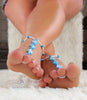 candy beaded foot jewelry