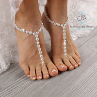 beach wedding barefoot sandals beaded barefoot sandals