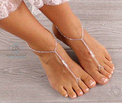 Beaded Barefoot Sandals, Beaded Wedding Sandals, Beach Wedding Barefoot Sandals