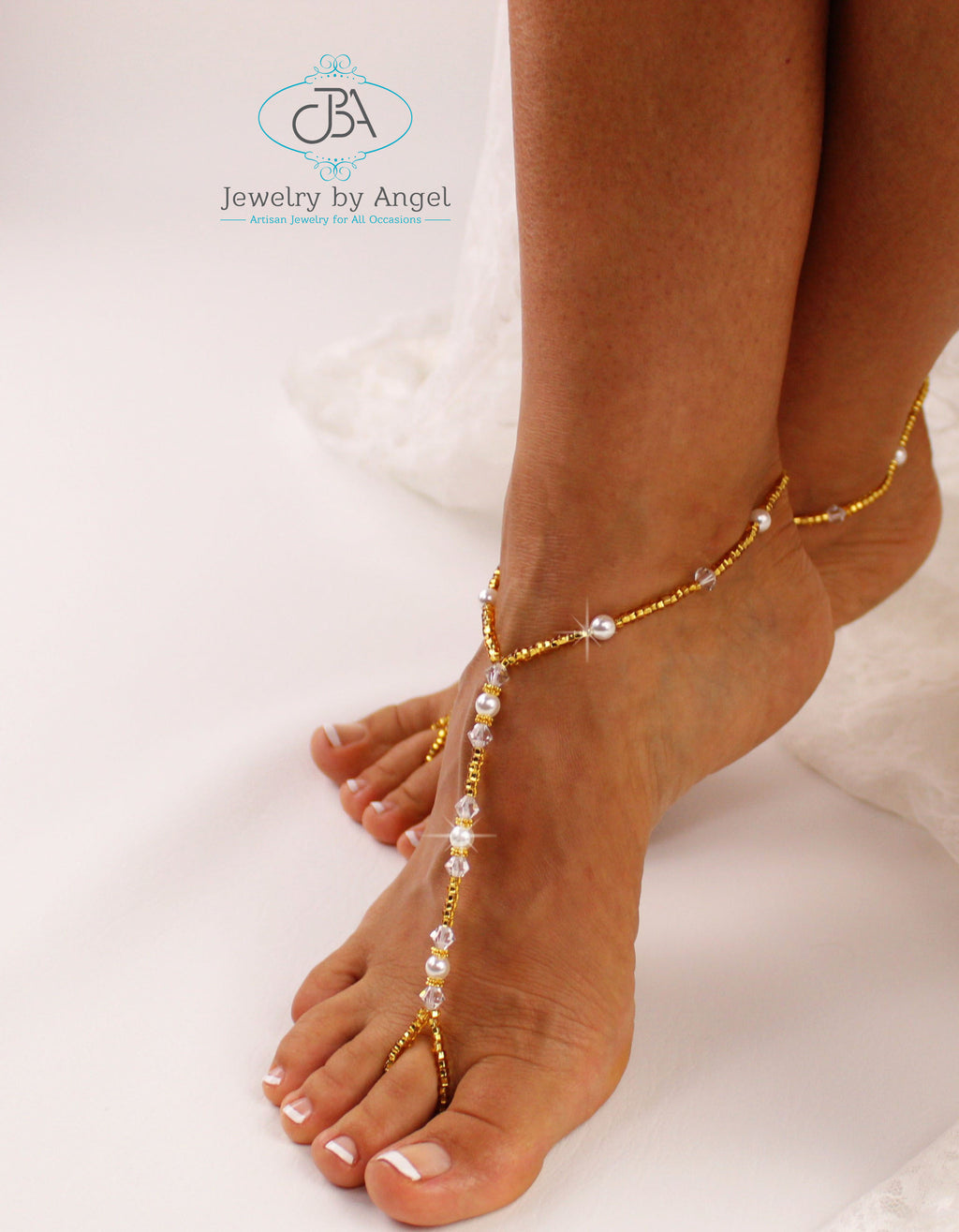 Gold Wedding Barefoot Sandal, Gold Bridal Sandals, Beach Wedding Foot Jewelry