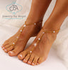 Gold Footless Sandals, Beach Wedding Barefoot Sandal, Bridal Sandals, BFS23