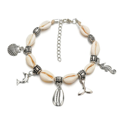 Seashell Ankle Bracelet Foot Jewelry Dolphin Charm Ankle Bracelet Anklet for Women Foot Accessories Adjustable Anklet Shell Ankle Bracelet Fashion Anklet Gift