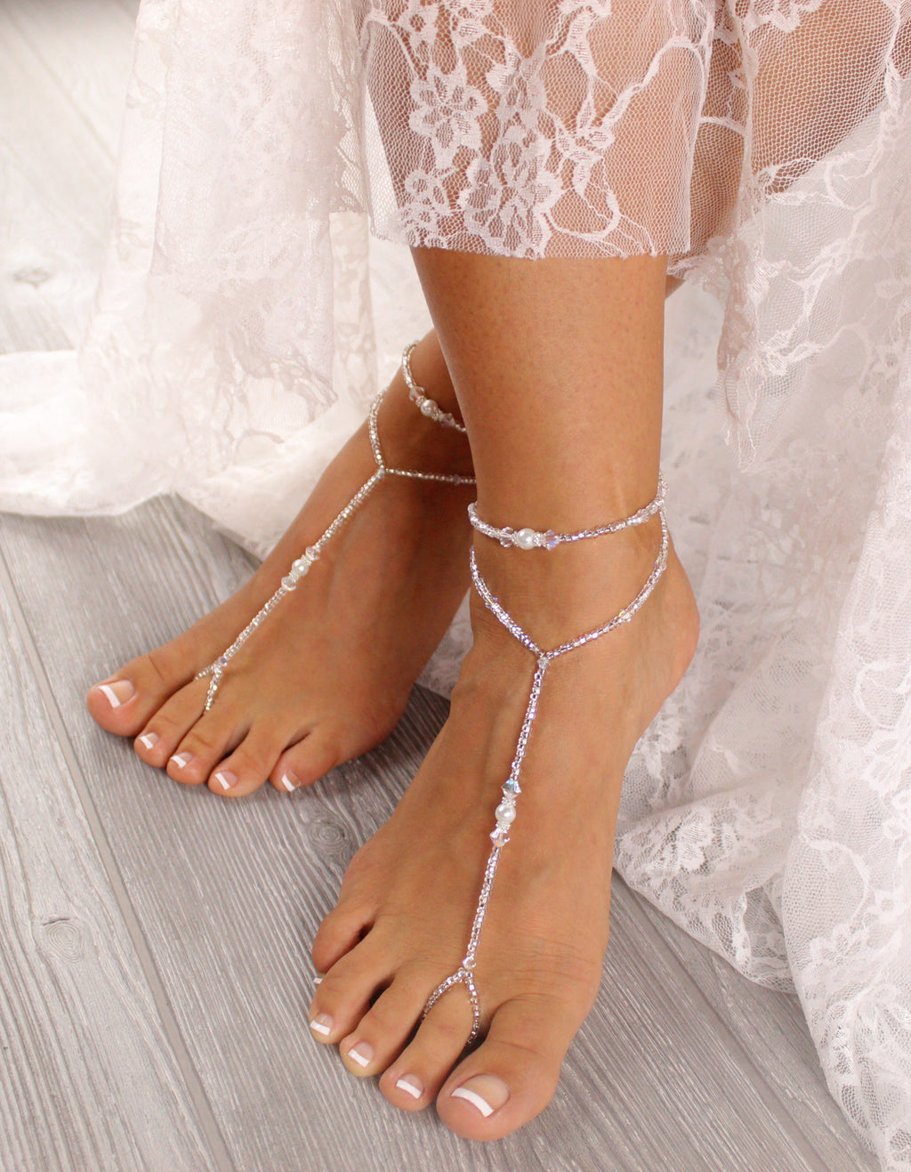 Wedding-Barefoot-Sandal-Bridal-Foot-Jewelry-Beaded-Footless-Sandals