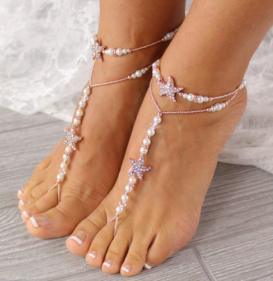 beach-wedding-sandals-rose-gold-footless-sandal-starfish-foot-jewelry-beach-wedding-barefoot-sandals