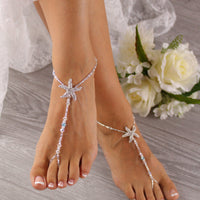 Beach Wedding Barefoot Sandals, Wedding Foot Jewelry, Starfish Barefoot Sandals