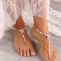 Wedding Barefoot Sandals Seashell Barefoot Sandals Beach Wedding Foot Jewelry