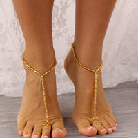 gold wedding barefoot sandals, wedding foot jewelry