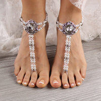 beaded-barefoot-sandals-wedding foot-jewelry-beach-sandals