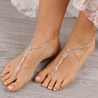 beach wedding barefoot sandals wedding foot jewelry bridal foot jewelry