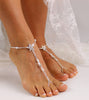 Starfish Barefoot Sandals Beaded Wedding Foot Jewelry Bridal Foot Sandals