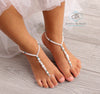 Baby Beaded Barefoot Sandals, Wedding Foot Jewelry, Bridal Barefoot Sandals