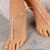 wedding barefoot sandals, wedding foot jewelry, pearl barefoot sandals