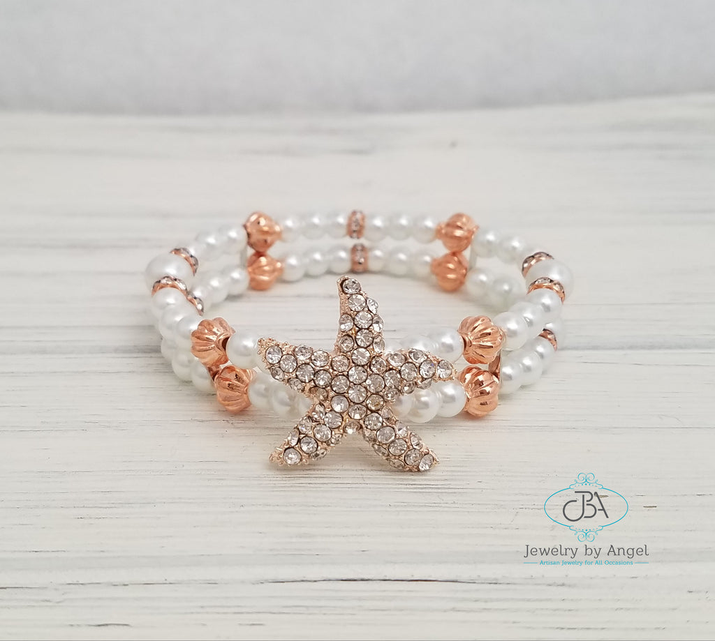 Starfish Wedding Bracelet Bridal Jewelry